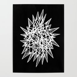 See-Through Star Negative Poster