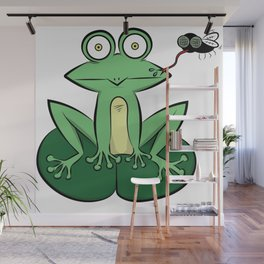 Froglicking Wall Mural