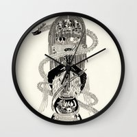 biology Wall Clocks featuring Soul Biology  by Ursula Hart