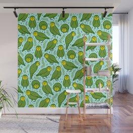 Kakapo Pattern Wall Mural