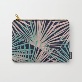 Tropical Fan Palm Leaves #5 #tropical #decor #art #society6 Carry-All Pouch