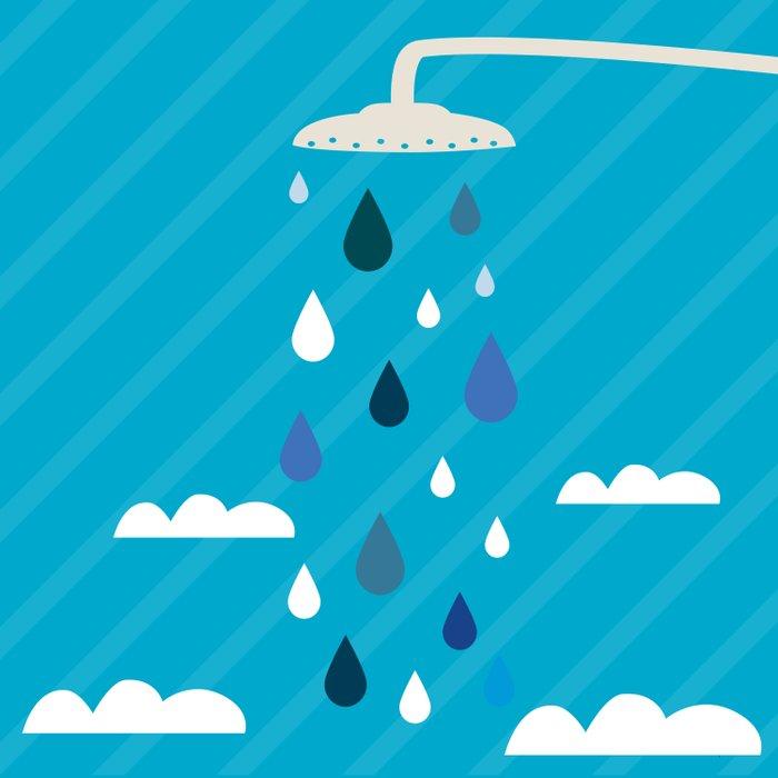 shower  Duvet Cover