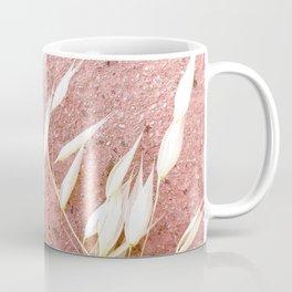 Blush Pink Plant Coffee Mug
