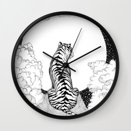 Tiger Moon Wall Clock