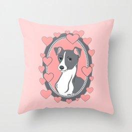 Italian Greyhound Love Throw Pillow