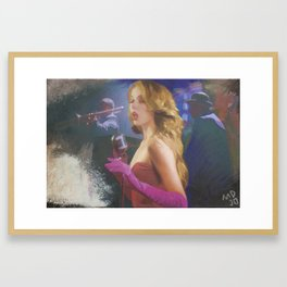 lady sings the blues Framed Art Print