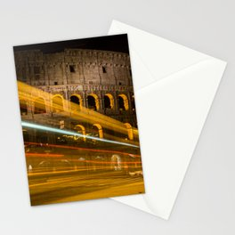 Zooming past the Colosseum Stationery Cards