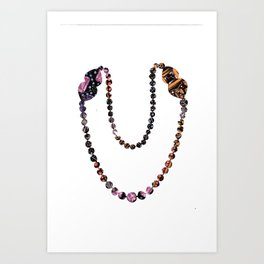 Pearl Necklace Art Print