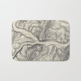Vintage Map of Harpers Ferry (1863) Bath Mat