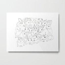 Bunnies Metal Print