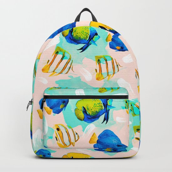Watercolor fish pattern Backpack