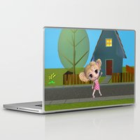 chibi Laptop & iPad Skins featuring Chibi Girl by ChibiGirl