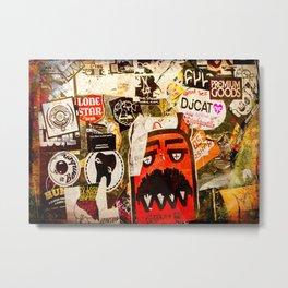 Austin Stick It Graffiti Stickers Metal Print