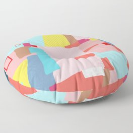 Windows of Possibility #abstractart #painting Floor Pillow