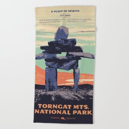 Torngat Mountains National Park Poster Beach Towel