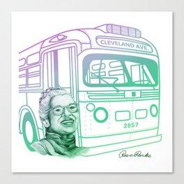 Rosa Parks, Courageous Woman Canvas Print