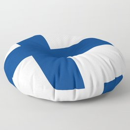 Flag of Finland - High Quality Image Floor Pillow