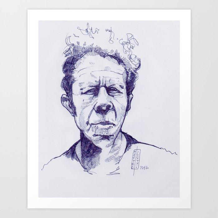 tom waits Art Print