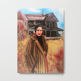 """Little Edie in front of Grey Gardens"" Metal Print"
