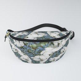 Hydrangeas - White & Blue Floral Fanny Pack