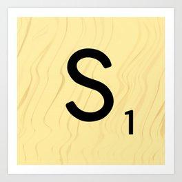 Scrabble S - Large Scrabble Tile Letter Art Print