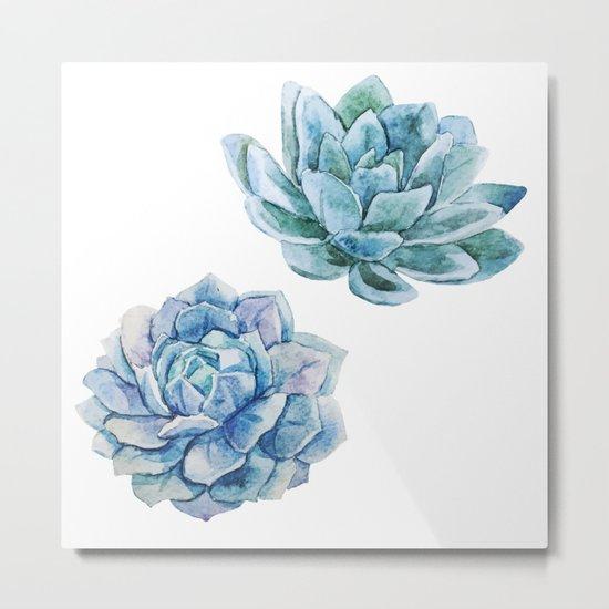 Succulents 02 Metal Print