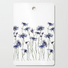Blue Cornflowers, Illustration Cutting Board