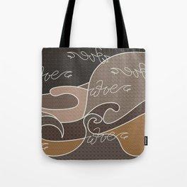 Waves V earth colors V Duffle Bags Tote Bag