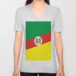 flag of rio grande do sul Unisex V-Neck