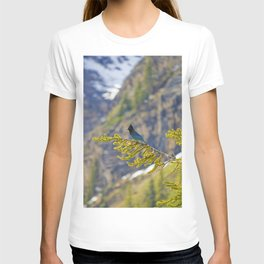 Steller's Jay (Canadian Blue Jay) in the forest T-shirt