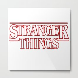 Stranger Thing Metal Print