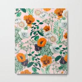 Wildflowers #pattern #illustration Metal Print