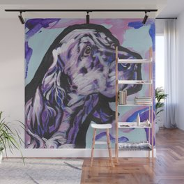 fun ENGLISH SETTER bright colorful Pop Art painting by Lea Wall Mural
