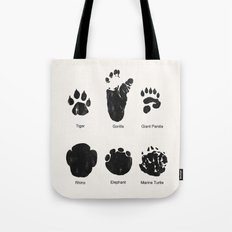Animal Track Tote Bag