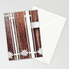 Stars on wood Stationery Cards