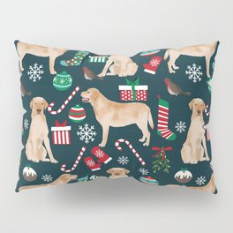 Yellow Labrador retriever christmas festive holiday gifts for dog person dog lover labrador retrieve Pillow Sham