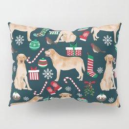 Yellow Labrador retriever christmas festive holiday gifts for dog person dog lover labrador retrieve Pillow Sham