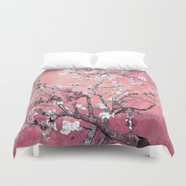 Van Gogh Almond Blossoms : Peachy Pink Duvet Cover