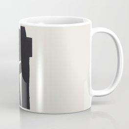 Black & White Minimalist Abstract Shapes Patterns Black Ink Painting Coffee Mug