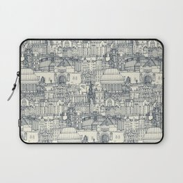 Edinburgh toile indigo pearl Laptop Sleeve