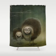 Mabel and Mo Shower Curtain