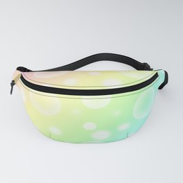 Pastel Rainbow Gradient With Bubbles! Fanny Pack