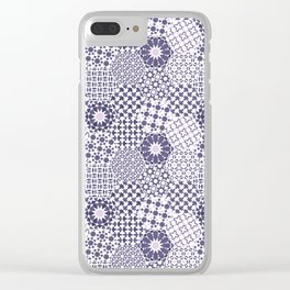 Spanish Tiles of the Alhambra - Violets Clear iPhone Case