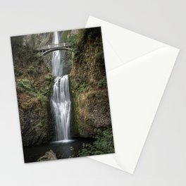 Iconic Multnomah Falls in the Columbia River Gorge of Oregon Stationery Cards