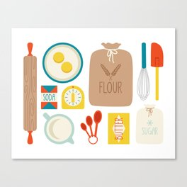 Bakers Table Canvas Print