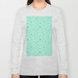 Atomic Starry Night in Mod Mint Long Sleeve T-shirt