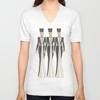 military V-neck T-shirts featuring Military (PaperDoll) by Michali's Studio