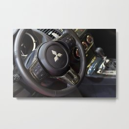 Mitsubishi Lancer Evolution X Wheel Metal Print