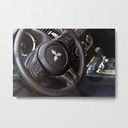 Mitsubishi Lancer Evolution X Wheel Metal Print