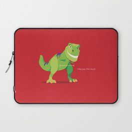 """T-Rex """"I like you this much"""" Laptop Sleeve"""